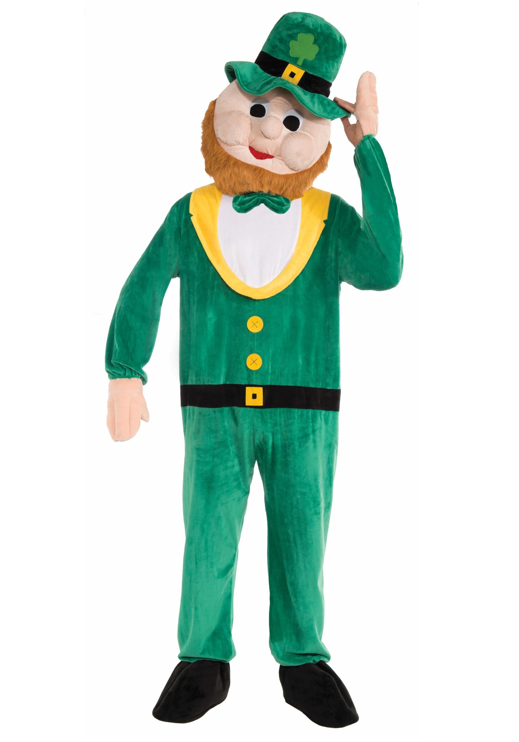 Leprechaun Irish Mascot Costume Party Character St Patrick Lucky Charm Halloween