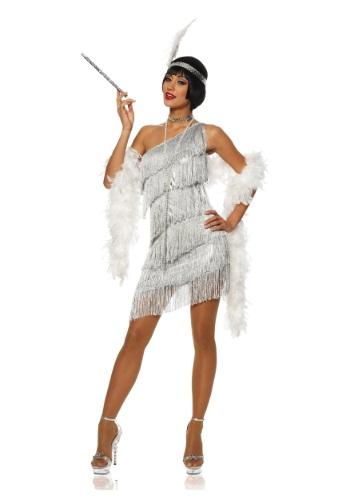 Womens Dazzling Silver Flapper