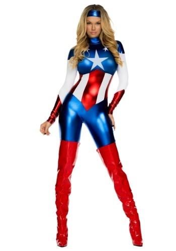 Womens American Beauty Superhero Costume