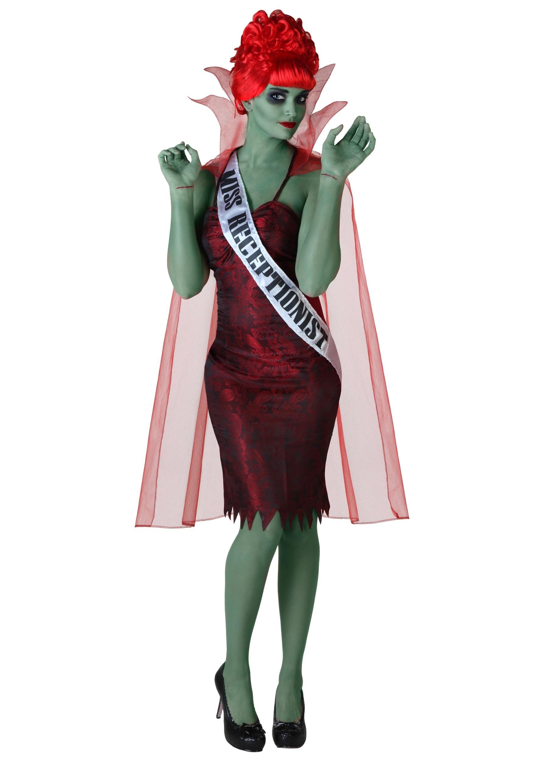 Zombie costumes walking dead costumes halloweencostumes plus size miss dead receptionist costume solutioingenieria Gallery