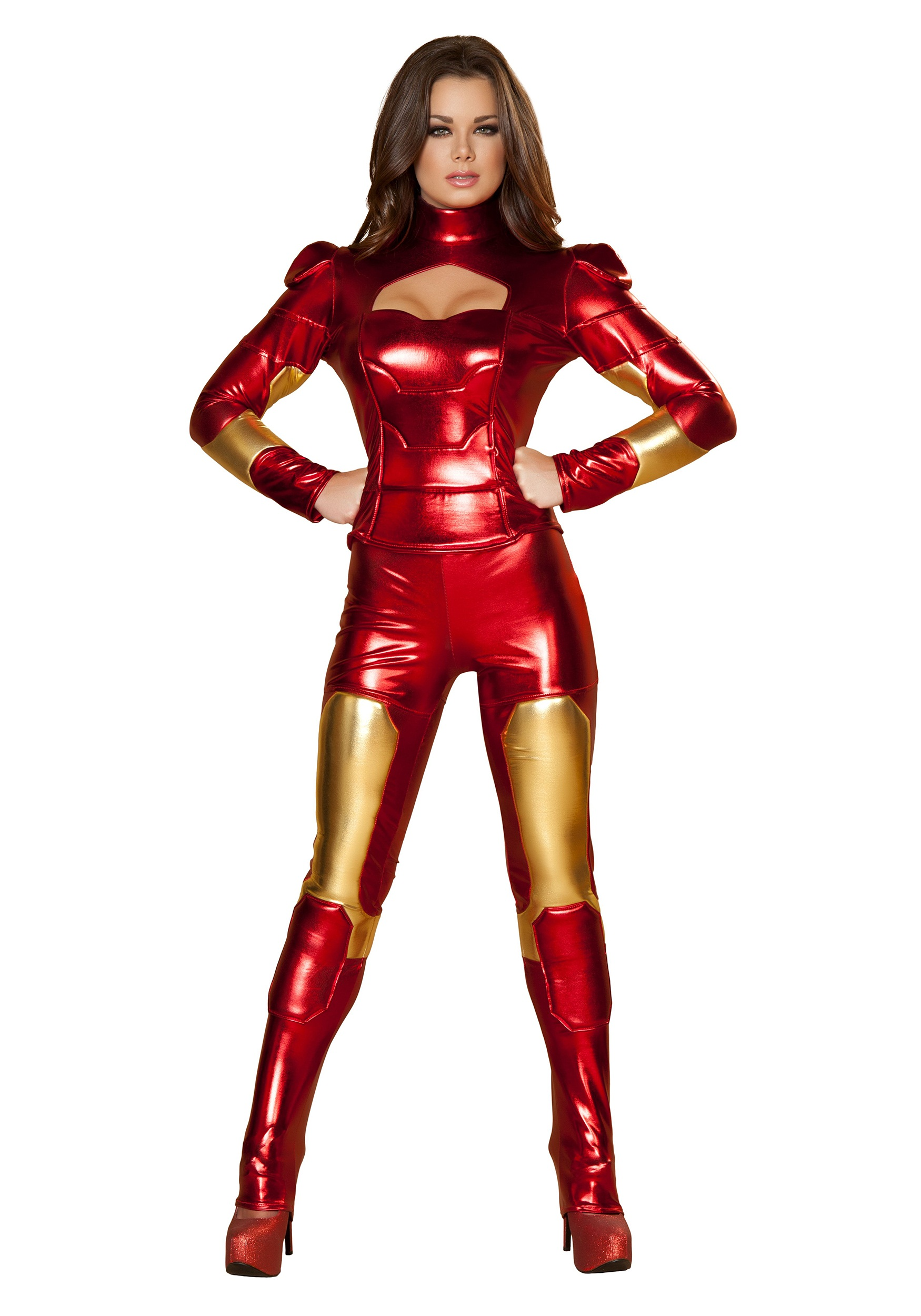sc 1 st  Halloween Costumes UK & Womens Hot Metal Superhero Costume