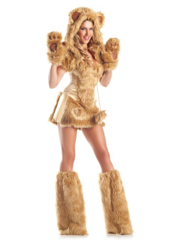 Womens Deluxe Golden Bear Costume