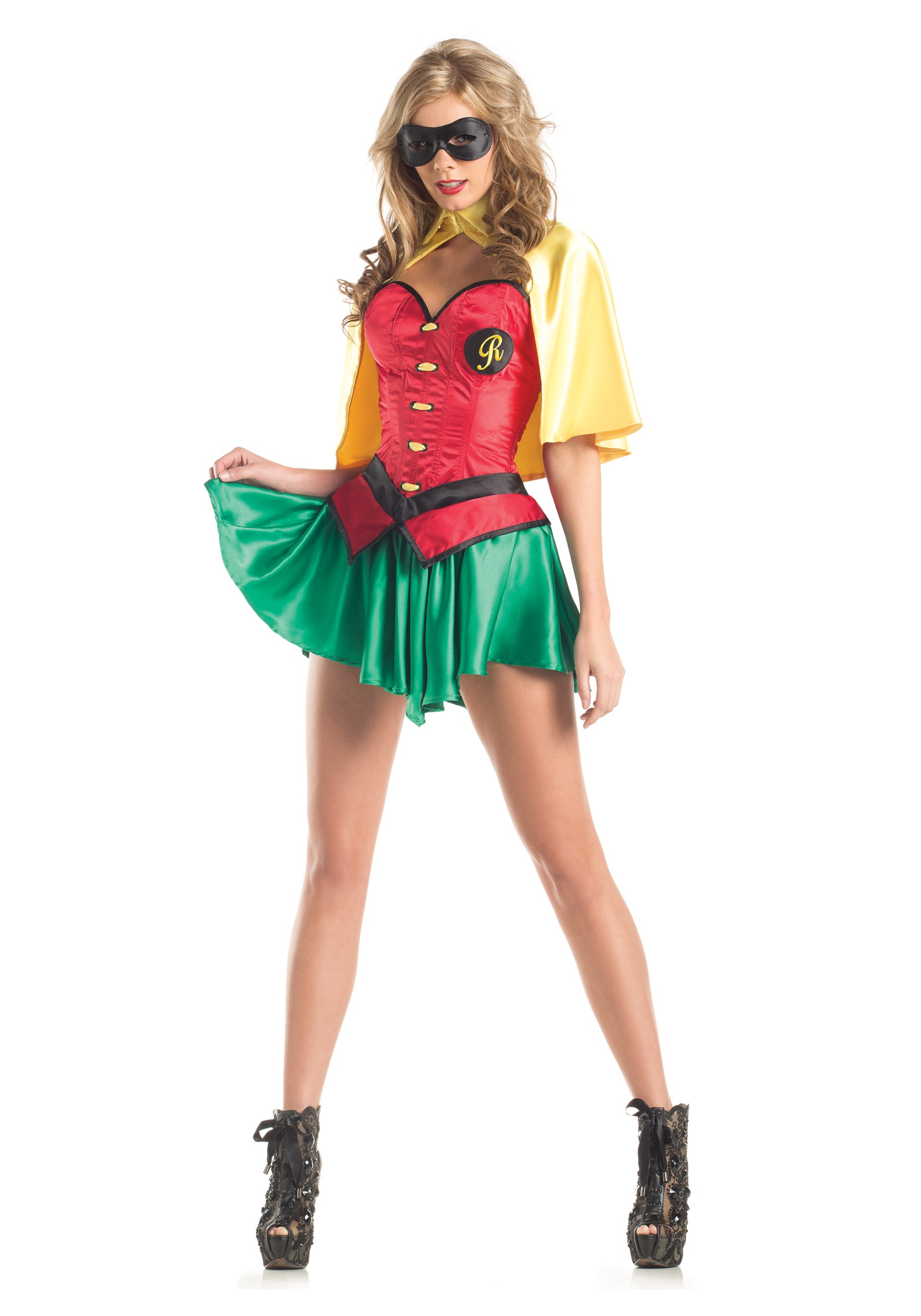 Womens Miss Robin Costume  sc 1 st  Halloween Costumes & Womens Sexy Sidekick Costume