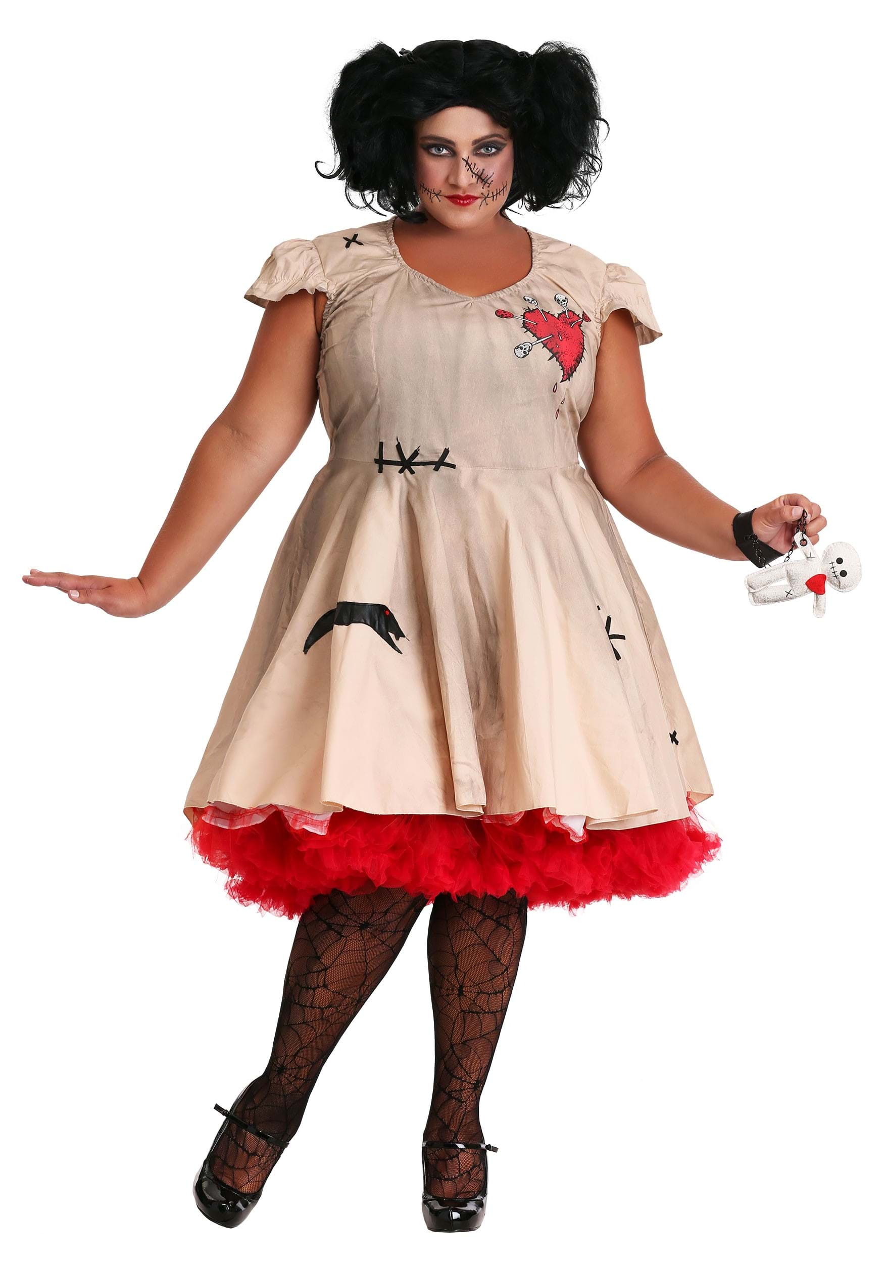 women 39 s plus size voodoo doll costume