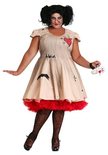 Women's Plus Size Voodoo Doll Costume