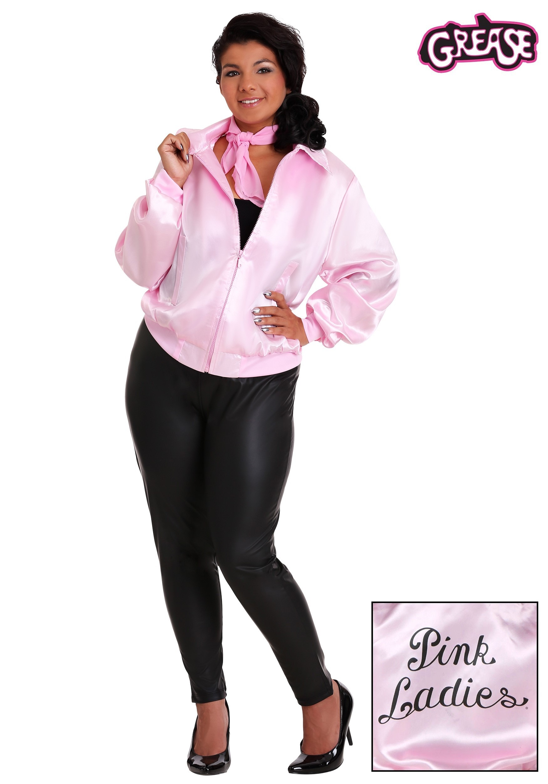 Halloween Decorations For The Home Grease Plus Size Pink Ladies Jacket