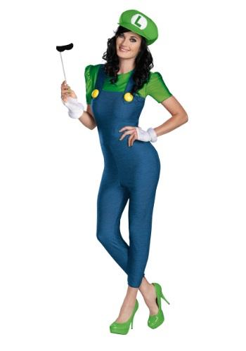 Luigi Female Deluxe Adult Costume