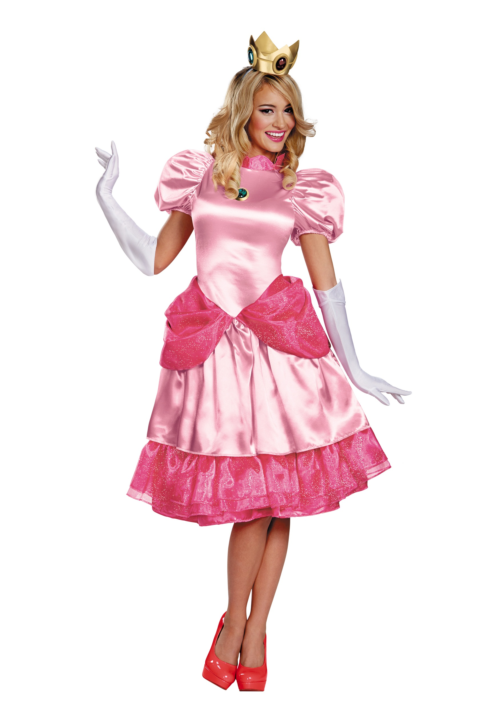 Princess Peach Deluxe Adult  sc 1 st  Halloween Costumes UK & Super Mario Bros. Costumes - HalloweenCostumes.com