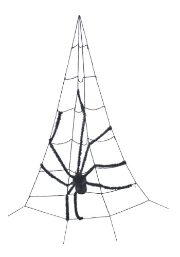 Corner Spider Web w/Spider