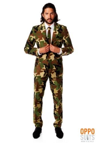 Mens Camouflage Suit