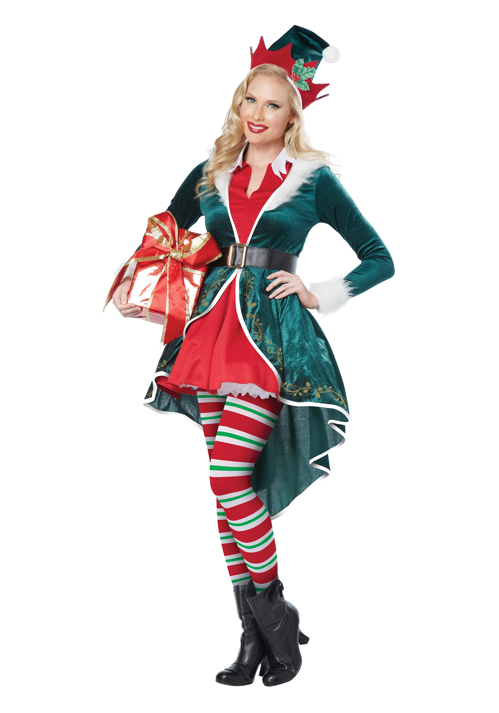 Womens Sexy Elf Costume-8913