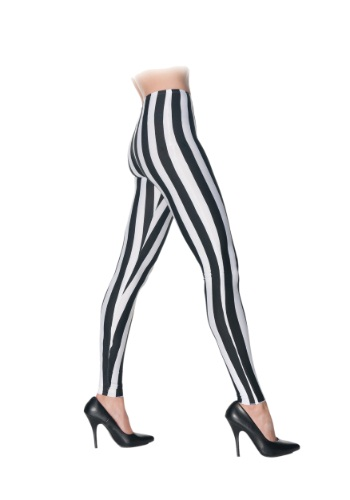 Black & White Striped Leggings