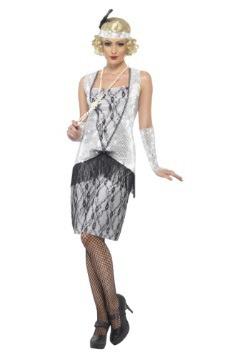 Women's 1920s Silver Flapper Costume