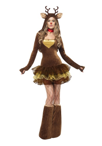 Womens Fever Reindeer Costume