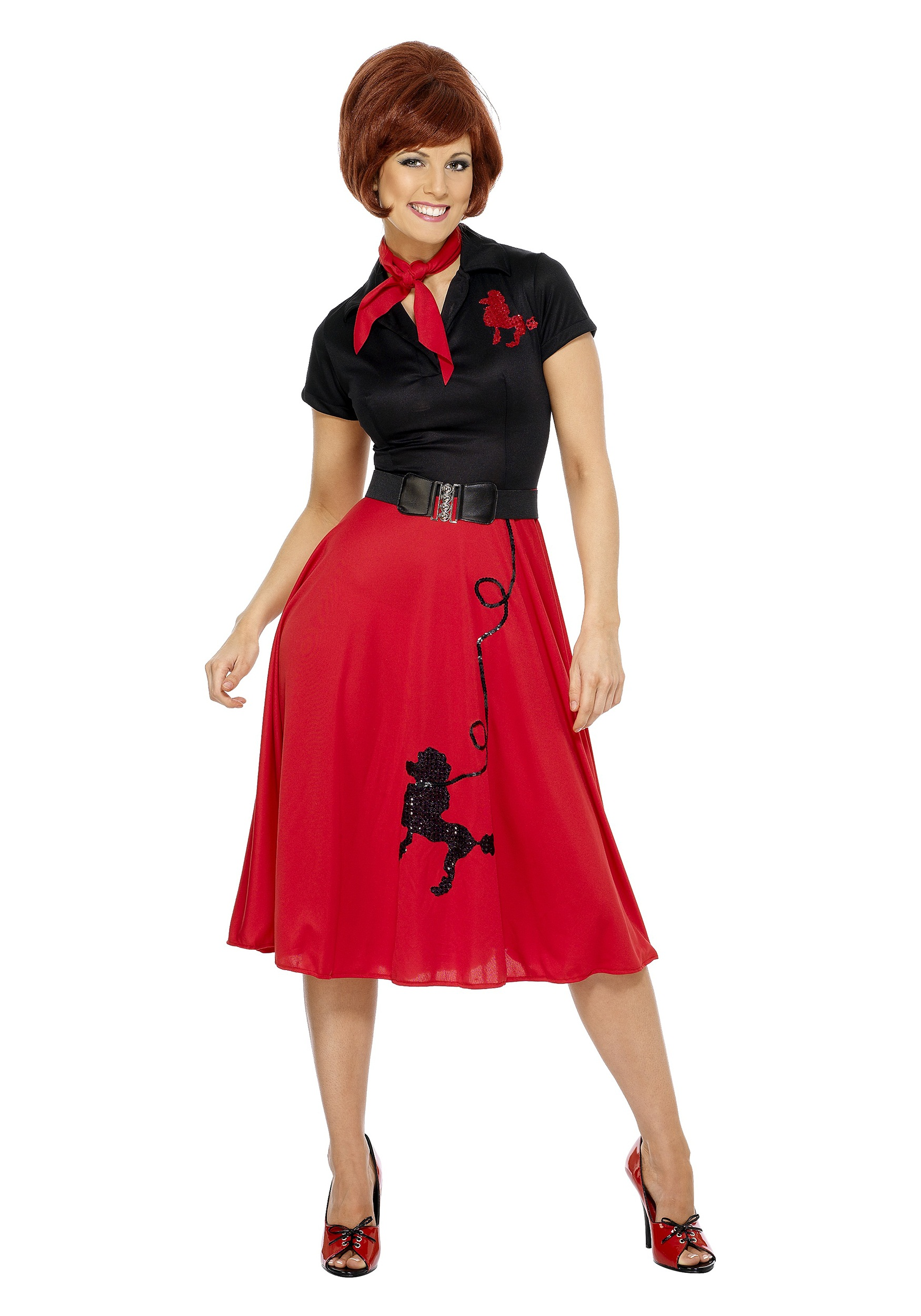 Womens Plus Size 50s Style Poodle Skirt Costume
