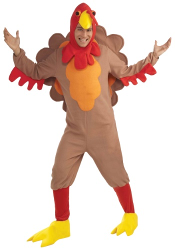 Plus Size Fleece Turkey Costume