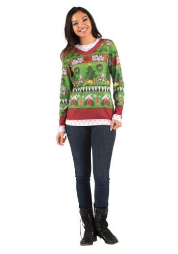 Adult Ugly Sweater with Cats