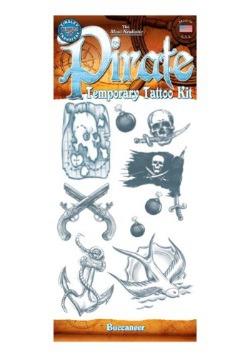 Pirate Buccaneer Temporary Tattoo Kit