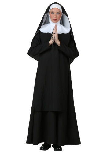 Plus Size Deluxe Nun Costume