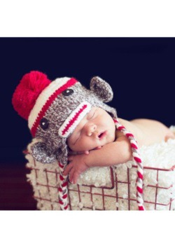 Infant Double Stitch Sock Monkey Hat