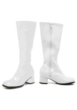 Toddler White Gogo Boots