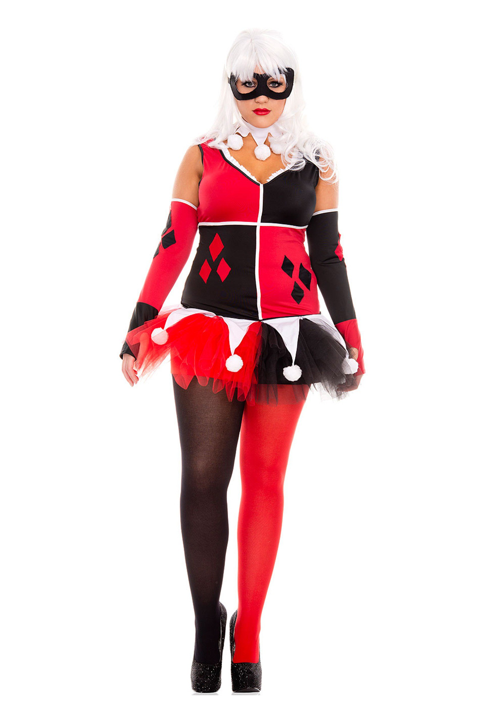Jester costumes womens plus size harley jester costume solutioingenieria Image collections