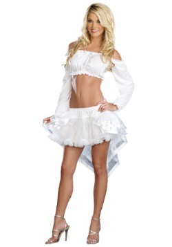 Hi-Low White Petticoat
