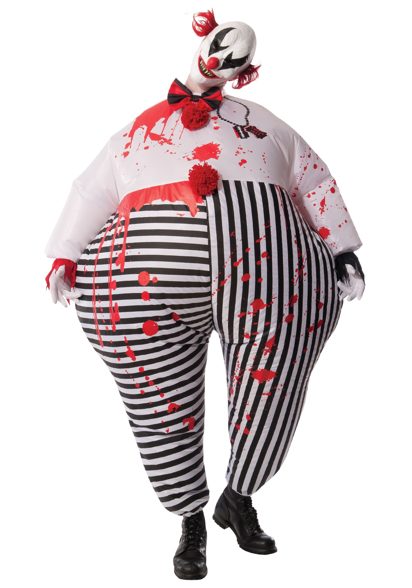 Adult Inflatable Evil Clown Fancy Dress Costume