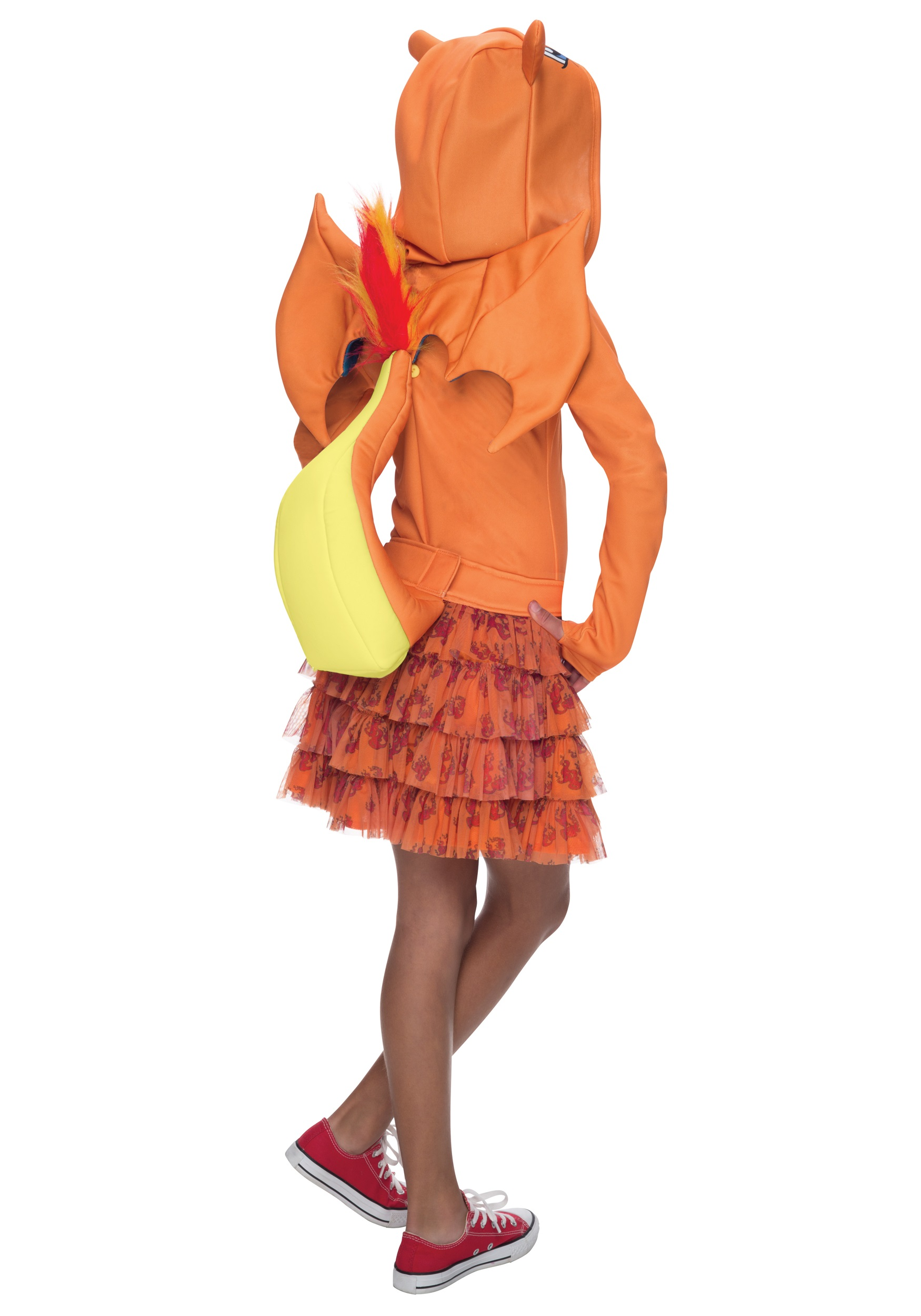 girls pokemon charizard costume back