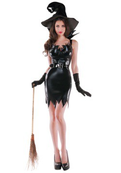 Womens Liquid Black Witch Costume