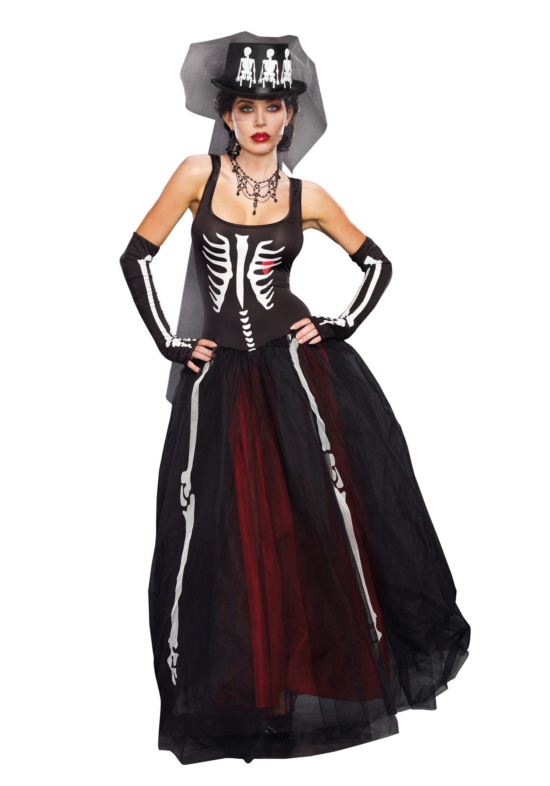Womenu0027s Ms. Bones Costume  sc 1 st  Halloween Costumes UK & Zombie u0026 Corpse Bride Costumes - HalloweenCostumes.com