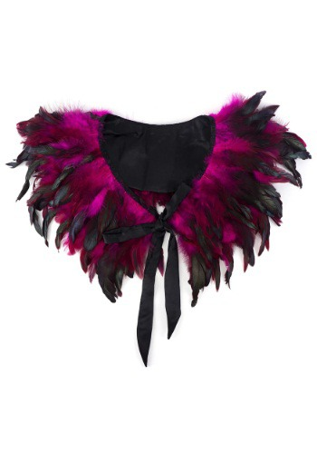 Black Coque Collar with Satin Trim and Ties