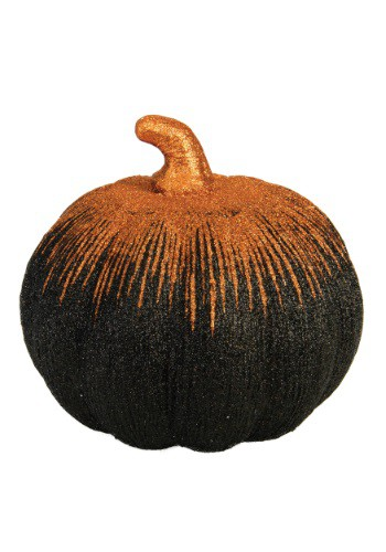 """8"""" Orange And Black Starburst Pumpkin"""