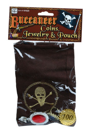 Buccaneer Bag of Coins And Jewelry