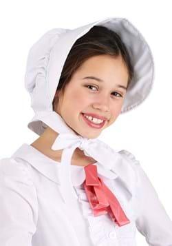 Child White Pioneer Bonnet