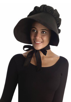 Womens Black Pioneer Bonnet