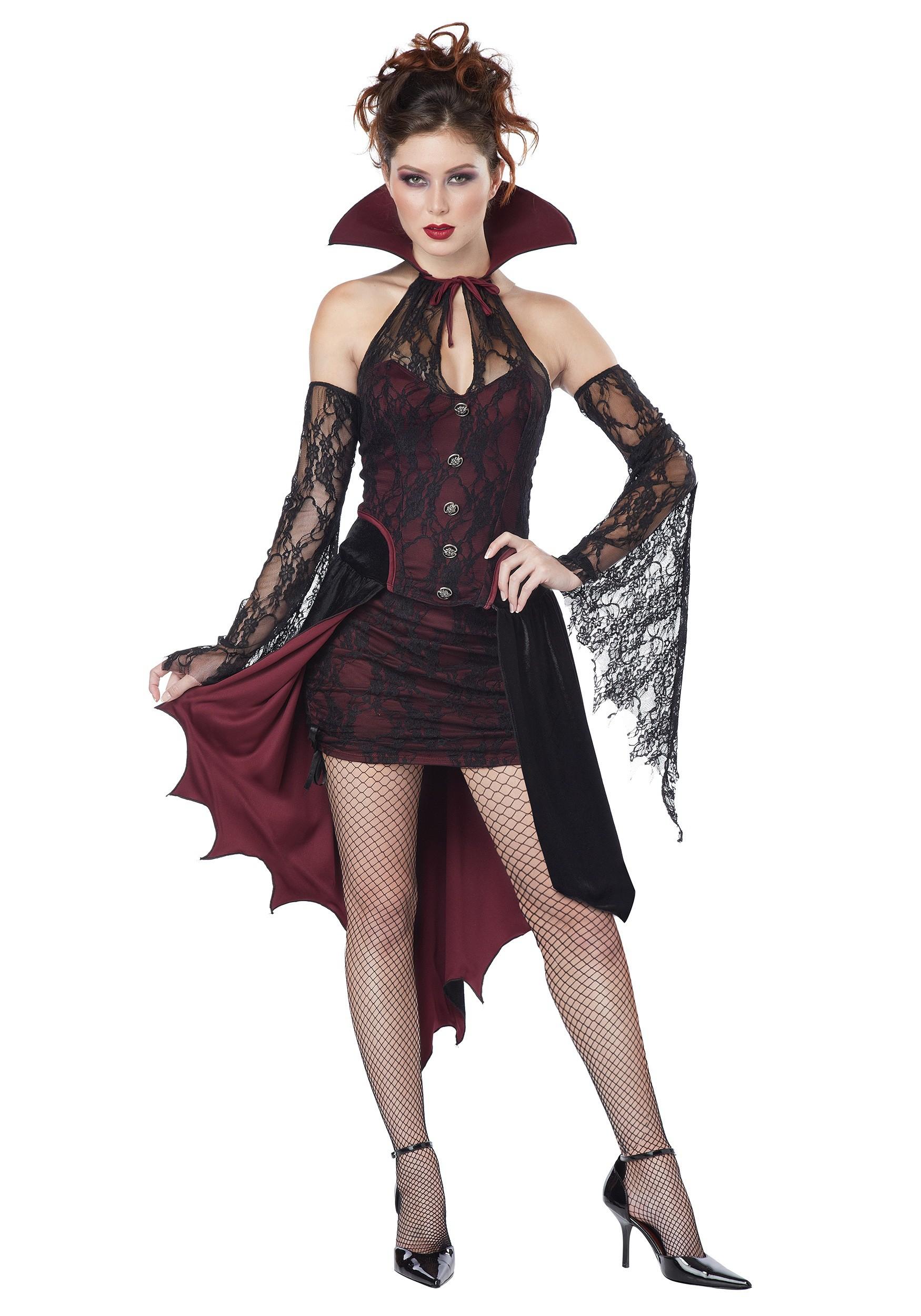 Bloody vixen vampire romper vamp sexy adult women's halloween costume xs
