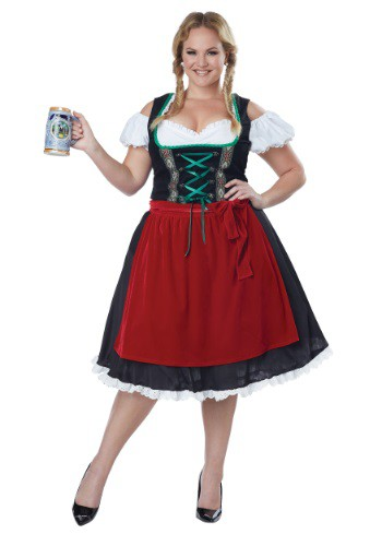 Women's Plus Size Oktoberfest Fraulein Costume