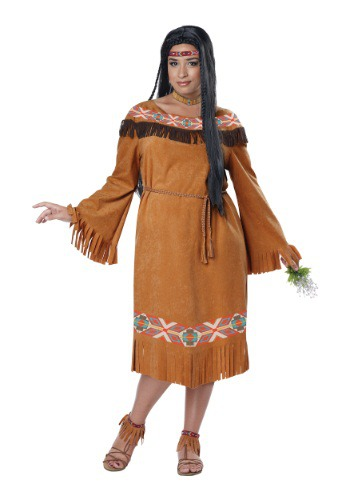 Women's Plus Size Classic Indian Maiden Costume