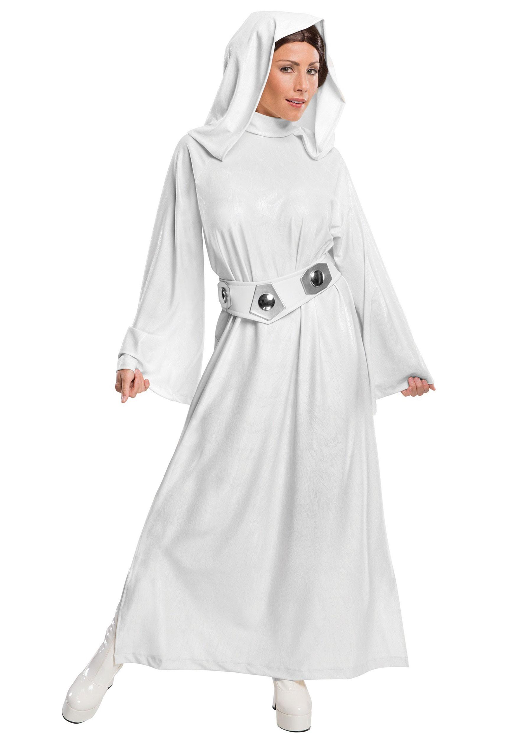 Deluxe Adult Princess Leia Costume  sc 1 st  Halloween Costumes UK & Star Wars Costumes - Adult Child Kids Halloween Costume