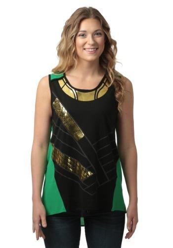 Marvel I Am Loki Juniors Asymmetric Tank Top