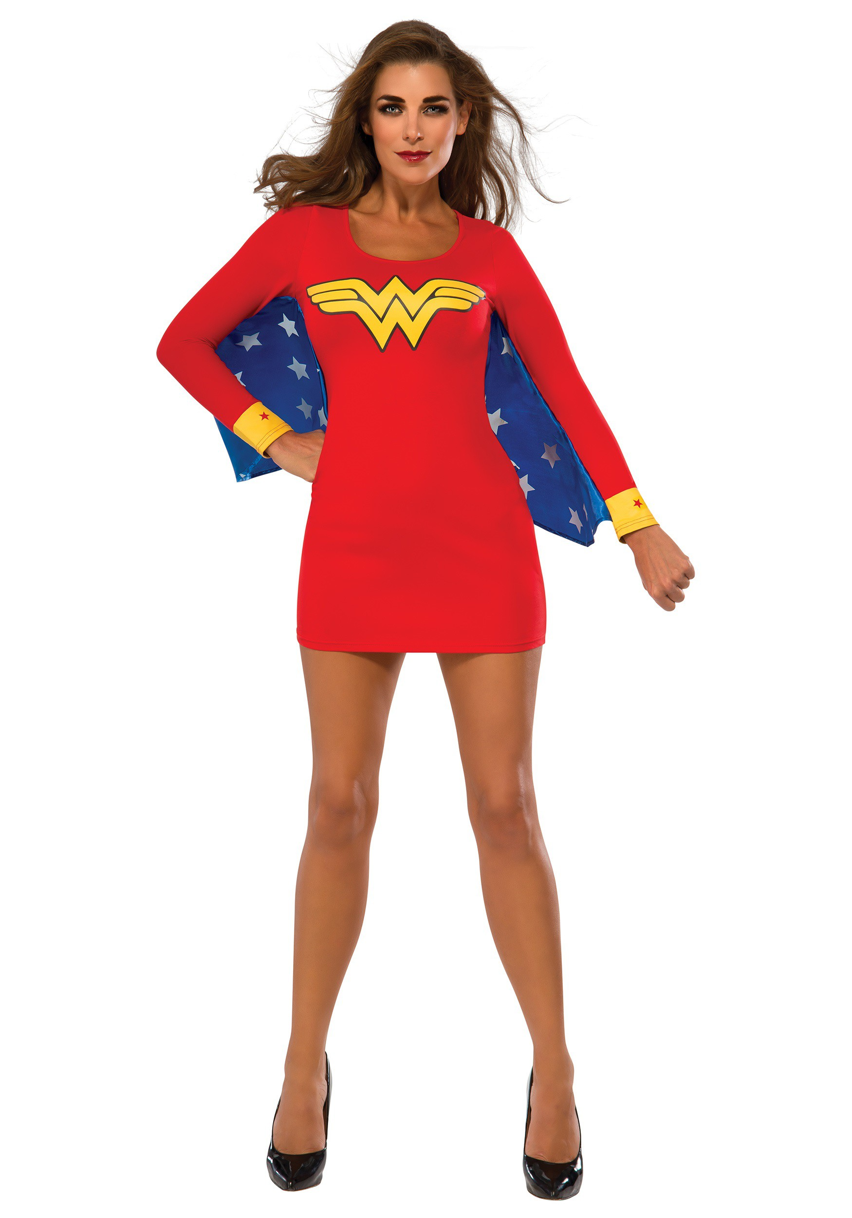 Womens Wonder Woman Wings Dress Costume-1685