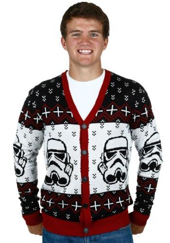 Star Wars Stormtrooper Ugly Sweater Cardigan Mens