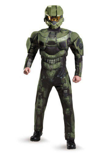 Plus Size Deluxe Muscle Master Chief Costume