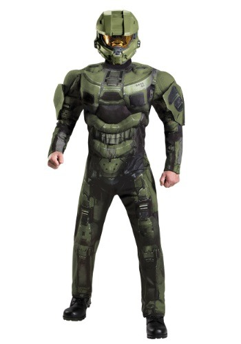 Adult Deluxe Muscle Master Chief Costume