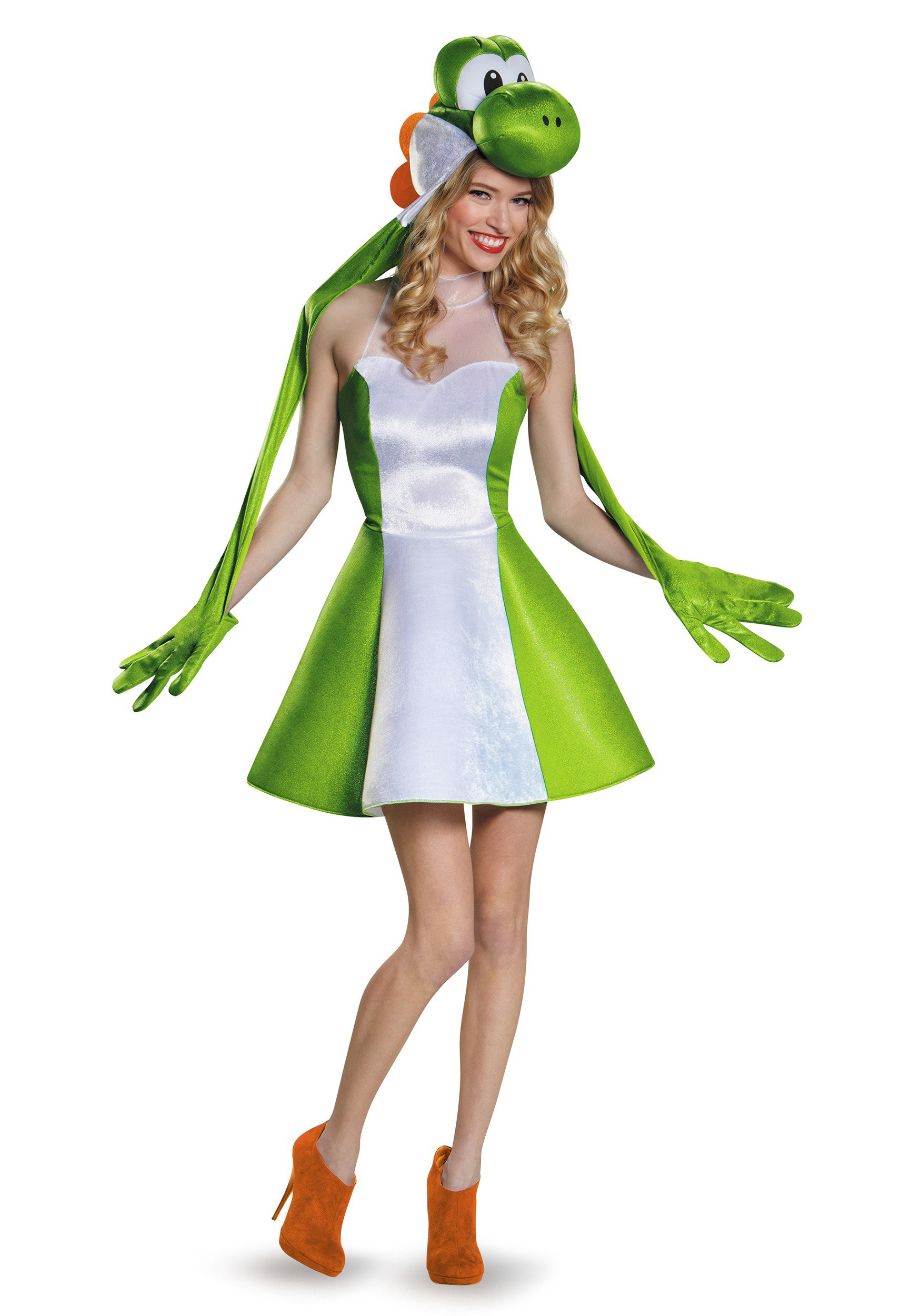 Womens Yoshi Skirt Costume  sc 1 st  Halloween Costumes UK & Womenu0027s Yoshi Skirt Costume