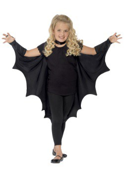 Child Black Bat Wings