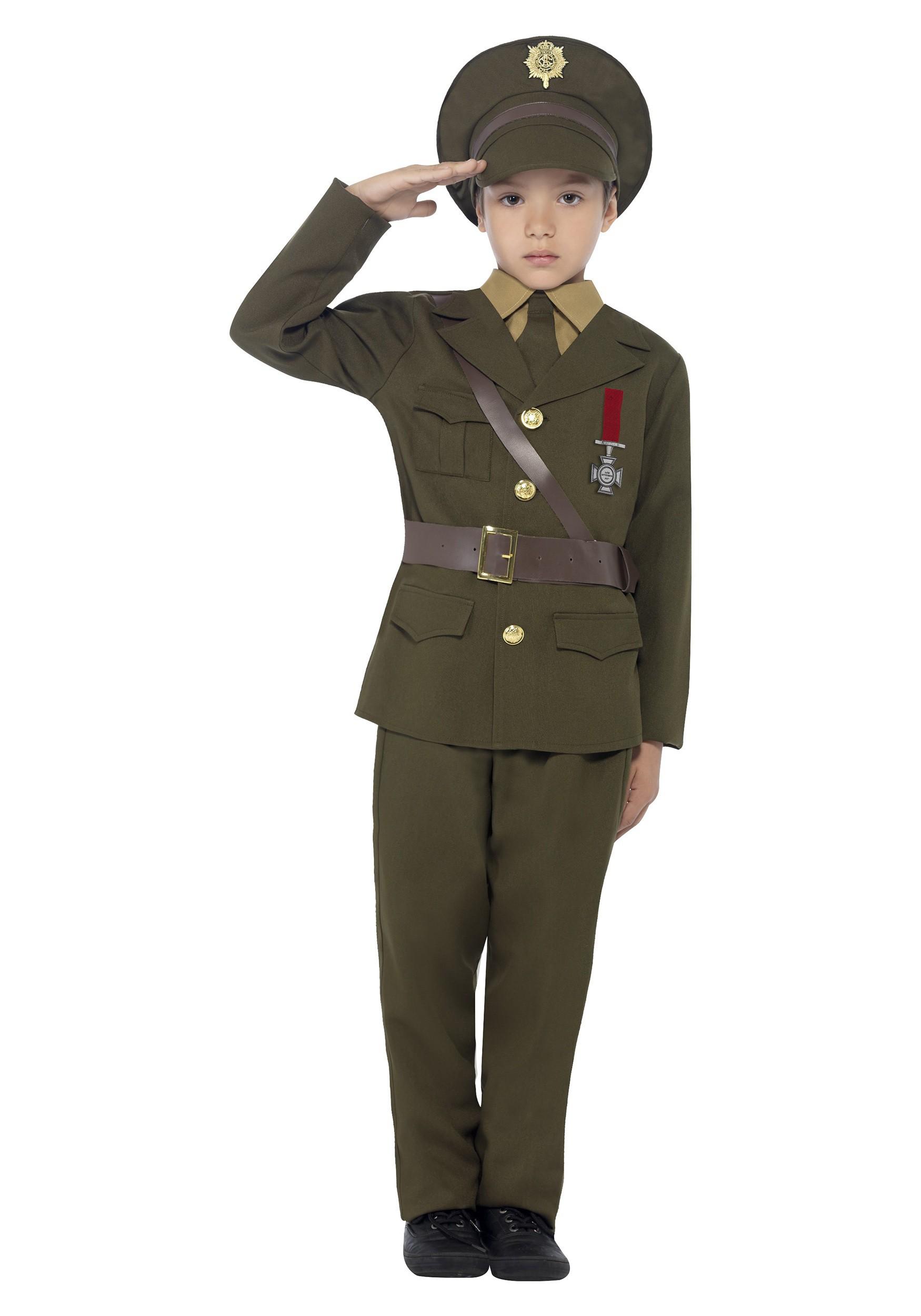 sc 1 st  Halloween Costumes UK & Childu0027s Army Officer Costume