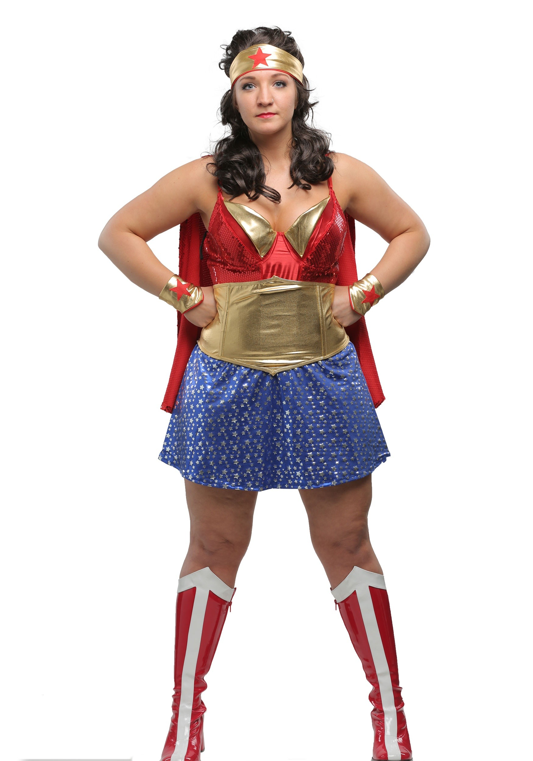 Womens Plus Size Wonder Lady Costume-6772