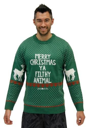 Home Alone Green Merry Christmas Ya Filthy Animal Sweater